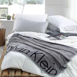 Calvin Klein  CK BOLD 经典毯(灰)CRT17008S