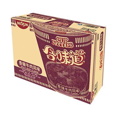 日清食品 日清合味道方便面香辣牛肉风味83g*12杯