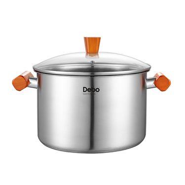 Debo 德铂哈尔堡不锈钢汤锅实木手柄三层复底 DEP-295