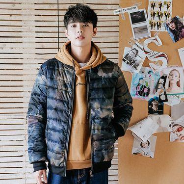 库依娜 男士外套棉衣冬季2018潮流新款加厚保暖韩版修身短款棉袄羽绒棉服ZX8822