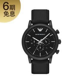EMPORIO ARMANI 阿玛尼 (Emporio Armani)手表皮制表带时尚休闲简约石英男士腕表AR1970