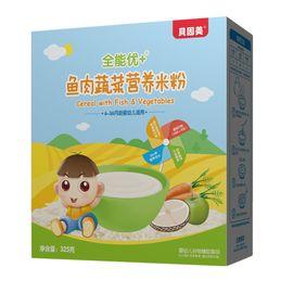 贝因美 全能优+鱼肉蔬菜营养米粉325克