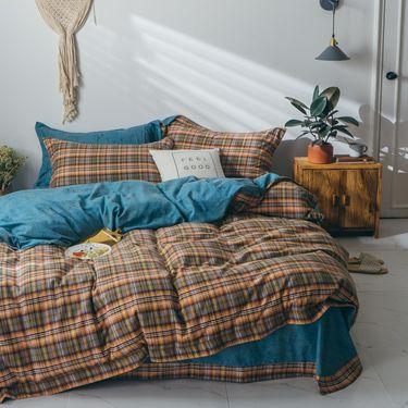 宝瑞祥 秋冬新品 双面棉绒系列  纯棉四件套 轻奢格度  床上用品 床品