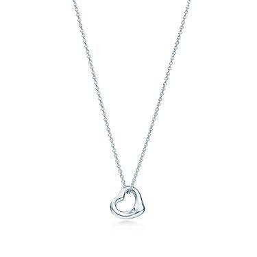 蒂芙尼 女款心形银吊坠项链 GRP06386