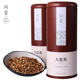 问农 大麦茶原味烘焙型麦芽浓香型非特级散装袋泡 250g罐装