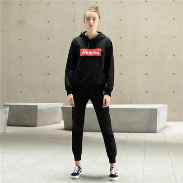 makino/犸凯奴 【团购】时尚百搭 女款字母印花套头衫休闲运动卫衣两件套装M181822006