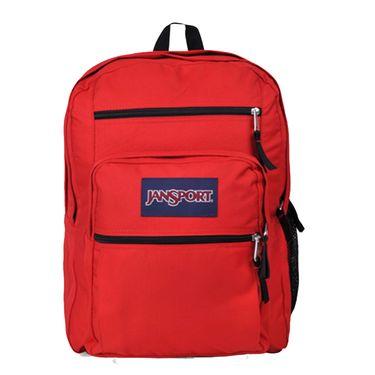 JANSPORT 杰斯伯 校园双肩背包纯色书包大容量34升 TDN7 5XP 西瓜红