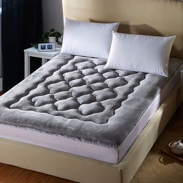 九洲鹿 家纺 法莱绒床垫 0.9/1.2/1.5/1.8米榻榻米可折叠保暖加厚双人床褥垫子
