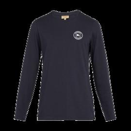 BURBERRY /博柏利 纯棉印花logo男士海军蓝圆领长袖衫#8004254 联正国际