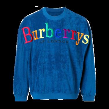 BURBERRY /博柏利 典藏徽标男士蓝色运动衫#4549332 联正国际