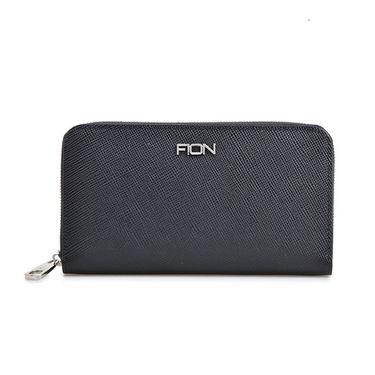 FION 菲安妮 男款鳄鱼纹牛皮手拿包卡包钱包手机包