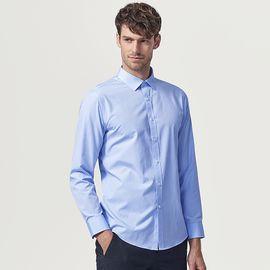 SEPTWOLVES 七匹狼衬衫2018秋新款中青年男士长袖混纺净色商务休闲衬衣男装1D1850501680