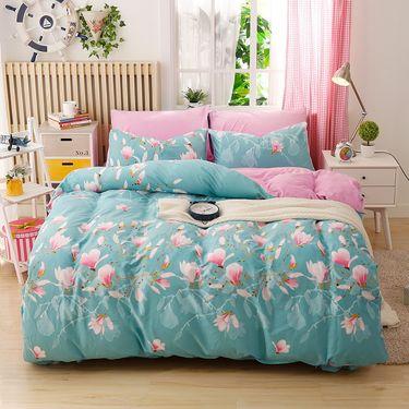 艾桐 四件套 韩版水晶绒保暖床品被套床单枕套4件套