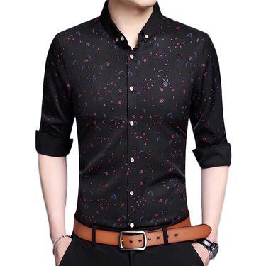 花花公子 长袖衬衫男加绒加厚韩版潮流修身男士衬衣青年免烫寸衫