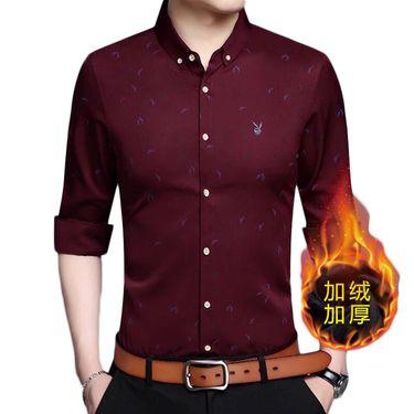 花花公子 长袖衬衫男韩版潮流修身男士衬衣青年免烫寸衫