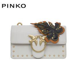 PINKO /品高LOVE 系列女士时尚单肩链条燕子包 1P212Z Y4J3黑色树叶洲际速买