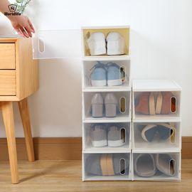 WORLD LIFE 和匠日本加厚透明塑料鞋盒防尘可叠加整理鞋盒简易鞋子收纳盒