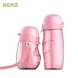 BERZ/贝氏 (BERZ) 儿童吸管杯宝宝水杯学饮杯 婴儿 6-12个月鸭嘴杯1-3岁喝水杯防漏