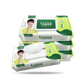 一朵 婴儿湿巾 宝宝湿纸巾80抽*4包 两种图案随机发货