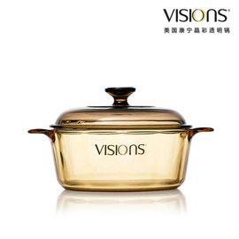 World Kitchen 康宁 晶彩透明锅2.25公升超耐热透明玻璃煮锅VS-22-E/CN