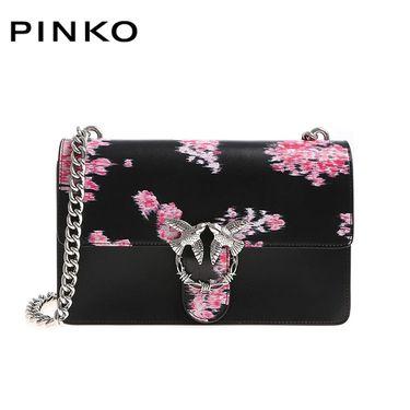 PINKO /品高 女士时尚花卉印花单肩链条燕子包1P217B Y516 黑色 洲际速买