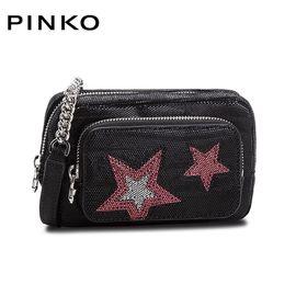 PINKO /品高 女士潮流前卫星星装饰单肩斜跨包 1P218M Y51R 黑色 洲际速买