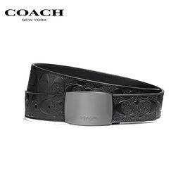 COACH 蔻驰  皮带 奢侈品 男士腰带宽版印花十字纹皮质 F2026 洲际速买