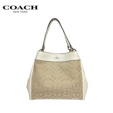 COACH 全球购 蔻驰coach 皮质皮革单肩斜跨手提包 女包 洲际速买