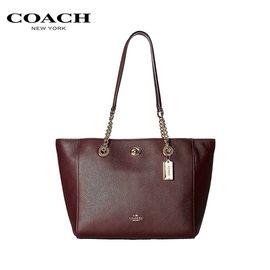 COACH 蔻驰(COACH)时尚女士手提包单肩包时尚女包  无光色的深红色 洲际速买
