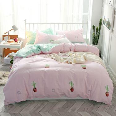 艾桐 ins小清新四件套 纯棉床上用品套件