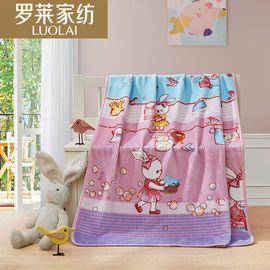 罗莱 家纺 梦幻小兔舒柔毯毛毯盖毯