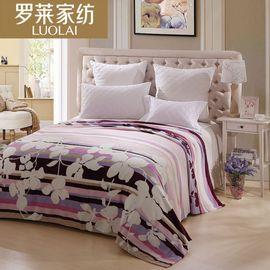 罗莱 家纺  粉红绚烂法兰绒毯 粉色
