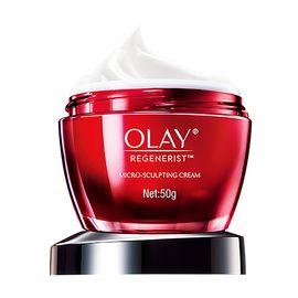 OLAY 玉兰油新生塑颜金纯化妆品补水保湿提拉紧致减少皱纹金纯面霜50g滋润霜
