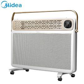 美的 电暖器NDK25-16BR 家用取暖器预约定时 欧式快热炉防水速热电暖气手机遥控