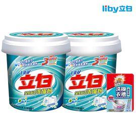 立白 洗衣粉 超浓缩 900G/2瓶装 桶装低泡 易漂节水 送威王洗衣机槽清洁剂