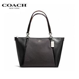 COACH /蔻驰 女士黑色皮革手提包 洲际速买