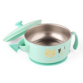 卓理 zolitt儿童餐具 婴儿注水保温碗宝宝防摔碗辅食碗吸盘碗(绿色)