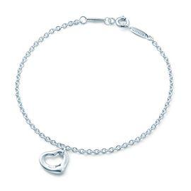 蒂芙尼Tiffany&co. 女款Elsa Peretti系列心形银手链手环 23318768 美国官网款 XUNTAO