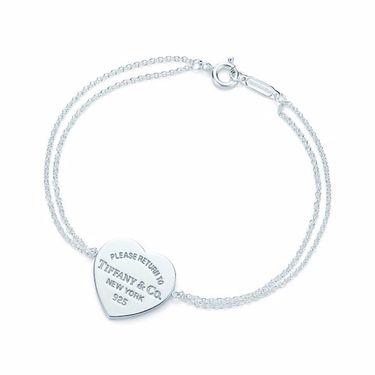 蒂芙尼Tiffany&co. 女款心形牌字母925银手链手环 GRP06398 美国官网款 XUNTAO