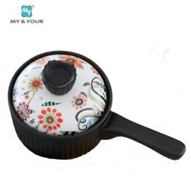 MYYOUR 波西米亚奶锅汤锅仔锅汤锅耐高温陶瓷养生煲1.8L