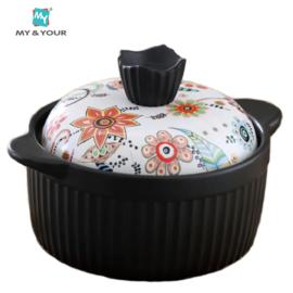 MYYOUR 波西米亚奶锅汤锅仔锅汤锅耐高温陶瓷养生煲2.8L
