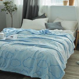 宝瑞祥 阳离子剪花加厚毛毯 冬季保暖毯 云朵 尺寸:150*200/200*230cm 毯子 绒毯 床上用品 床品
