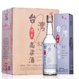 道阖 台湾高粱酒 金门风味 陈年 52度 浓香型 白酒 整箱装500ml*6
