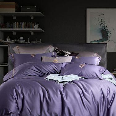 康尔馨 五星级酒店床上四件套全棉纯棉简约60支贡缎套件1.8m床品