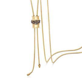 静风格 镀14K金项链可调节抽拉设计毛衣链长款韩版简约森系锁骨链A1809012