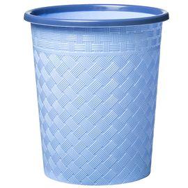 家杰 家用卧室卫生间客厅垃圾桶 压圈式圆形纸篓 简易时尚塑料卫生桶 12L JJ-102