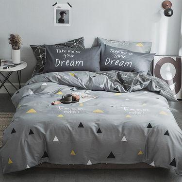 九洲鹿 全棉四件套 梦莎拉蒂 1.5/1.8米床 被套200*230cm/220*240 高支纯棉床单双人床品套件