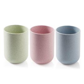 家杰 创意简约漱口杯牙缸杯 刷牙杯情侣牙刷杯塑料洗漱杯 3只家庭装 JJ-YS302