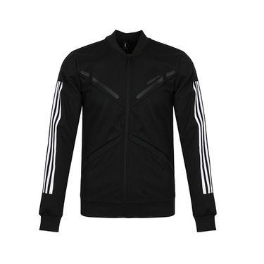 阿迪达斯 男装上衣2018新款运动服休闲透气针织夹克外套DM4330