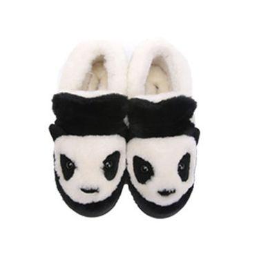 DK UGG 秋冬季新款熊猫女款低帮雪地靴皮毛一体厚底棉鞋防滑加厚室内可穿拖鞋女鞋DK022 IVY